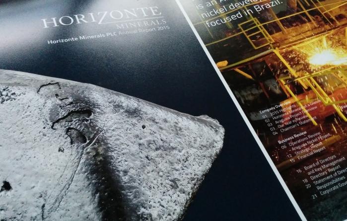 Horizonte Minerals Annual Report Design