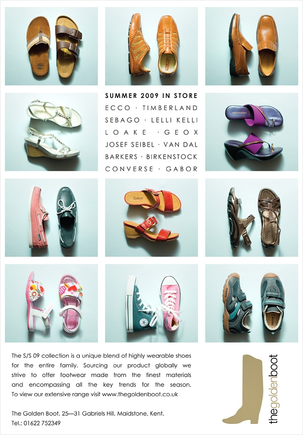 Wealden Times shoes advert 2009