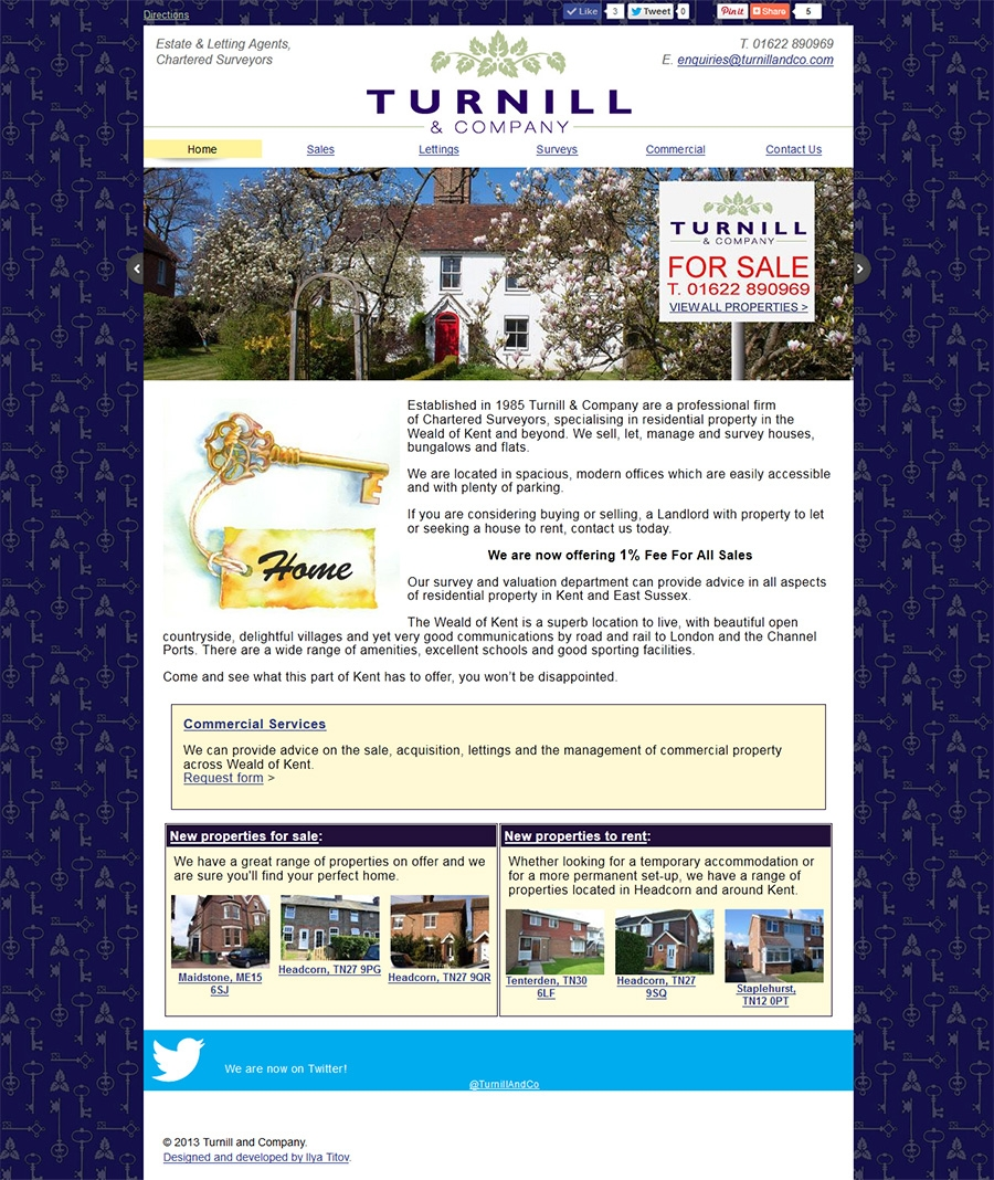 Turnill and Co website